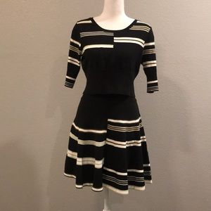 Crop sweater and skirt set